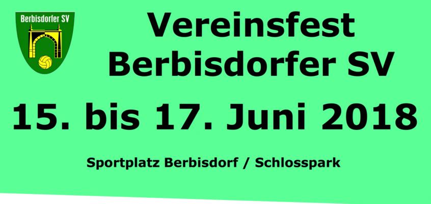 Programm – Vereinsfest vom 15. bis 17. Juni 2018